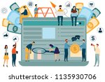 graphic design analysis of... | Shutterstock .eps vector #1135930706