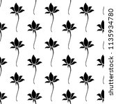 lotus flower icon seamless...   Shutterstock .eps vector #1135934780