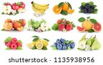 fruits fruit collection fresh... | Shutterstock . vector #1135938956