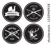 vintage hunting shop emblems... | Shutterstock .eps vector #1135940918