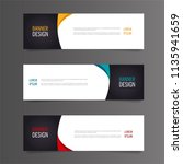set of modern colorful banner... | Shutterstock .eps vector #1135941659