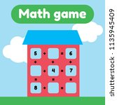 vector illustration. math game...   Shutterstock .eps vector #1135945409