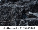roughly surface  black granite... | Shutterstock . vector #1135946378