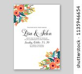 floral wedding invitation or... | Shutterstock .eps vector #1135946654