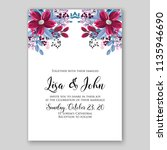 floral wedding invitation or... | Shutterstock .eps vector #1135946690