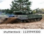 tank crew take part in a... | Shutterstock . vector #1135949300