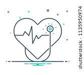 colorful icon for cardiology | Shutterstock .eps vector #1135950974