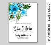 wedding invitation floral...   Shutterstock .eps vector #1135953110