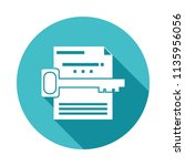 keyword search icon in flat... | Shutterstock .eps vector #1135956056