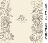 background with beet sugar ... | Shutterstock .eps vector #1135958336