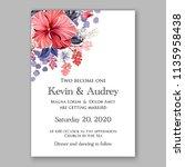 floral wedding invitation...   Shutterstock .eps vector #1135958438