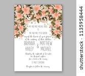 floral wedding invitation...   Shutterstock .eps vector #1135958444