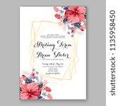 floral wedding invitation...   Shutterstock .eps vector #1135958450