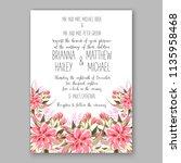 floral wedding invitation...   Shutterstock .eps vector #1135958468