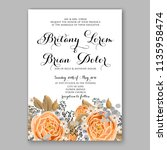 floral wedding invitation...   Shutterstock .eps vector #1135958474