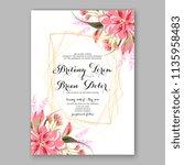 floral wedding invitation... | Shutterstock .eps vector #1135958483