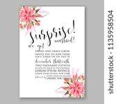 floral wedding invitation...   Shutterstock .eps vector #1135958504