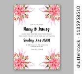 floral wedding invitation...   Shutterstock .eps vector #1135958510