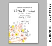floral wedding invitation... | Shutterstock .eps vector #1135958513