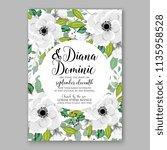 floral wedding invitation...   Shutterstock .eps vector #1135958528