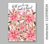 floral wedding invitation...   Shutterstock .eps vector #1135958534