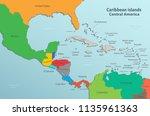 caribbean islands central...   Shutterstock .eps vector #1135961363