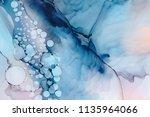 hand painted ink texture.... | Shutterstock . vector #1135964066