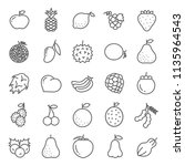 set of fruits icon vector in... | Shutterstock .eps vector #1135964543