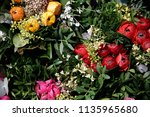 luxurious floral composition  ...   Shutterstock . vector #1135965680