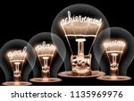 photo of light bulbs with... | Shutterstock . vector #1135969976