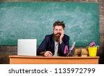 educators more stressed work... | Shutterstock . vector #1135972799