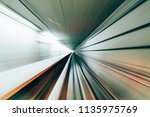 speed motion blur on... | Shutterstock . vector #1135975769