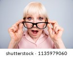 portrait of old adult blonde... | Shutterstock . vector #1135979060