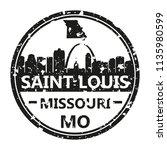 saint louis missouri travel... | Shutterstock .eps vector #1135980599