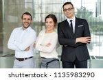 successful confident business...   Shutterstock . vector #1135983290