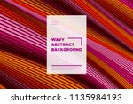 distortion of stripes. abstract ... | Shutterstock .eps vector #1135984193