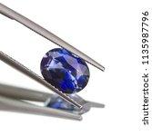 ceylon blue sapphire gemstone... | Shutterstock . vector #1135987796