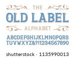 old label alphabet. diagonal... | Shutterstock .eps vector #1135990013