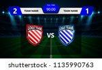 football scoreboard broadcast... | Shutterstock .eps vector #1135990763