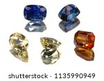 ceylon blue and yellow sapphire ... | Shutterstock . vector #1135990949