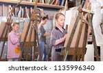 skillful teenage students... | Shutterstock . vector #1135996340