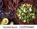 mexican salad with blueberries  ... | Shutterstock . vector #1135996880
