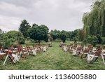 in area of wedding ceremony in... | Shutterstock . vector #1136005880
