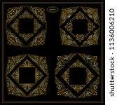 vector set of calligraphic... | Shutterstock .eps vector #1136006210