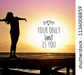fitness motivation quotes .... | Shutterstock . vector #1136008859