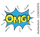 an omg visal message bubble...   Shutterstock .eps vector #1136010476