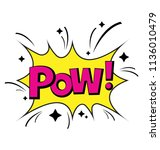 a pow comic bubble to explicit... | Shutterstock .eps vector #1136010479