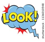 look text in a comic bubble... | Shutterstock .eps vector #1136010548