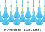 vector seamless border pattern. ...   Shutterstock .eps vector #1136012558