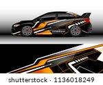 car decal graphic vector  truck ... | Shutterstock .eps vector #1136018249